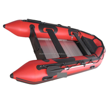 CE certificate PVC inflatable boat with aluminum floor SD360 fishing/ rib boat