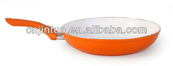 aluminum frying pan with induction bottom with ceramic coating