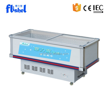 2.6m small size commercial supermarket ice cream display freezer
