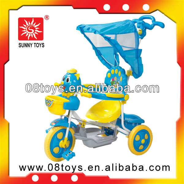 Bright plastic tricycle game car