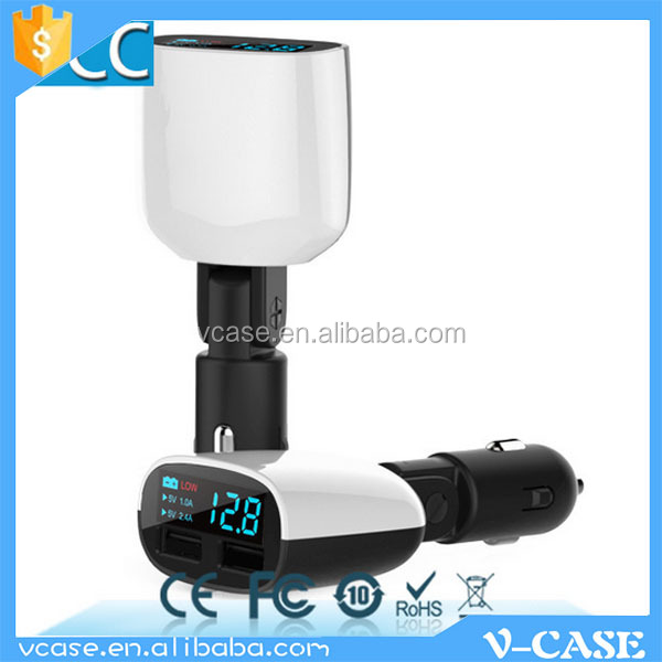 High Quality LED Display Dual USB Car Charger Adapter Mini 5V 3.4A Voltage Monitor Inverter 12v 220v Car Battery Charger