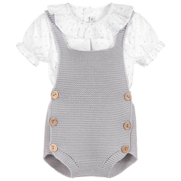 Factory OEM Newborn Baby Knit Overalls Toddler Boy Girl Knit Romper Cotton Jumpsuit Outfits