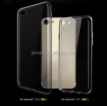 Hot New Product For iPhone 7 Case, Ultra Thin Clear Crystal Transparent TPU Case Cover For iPhone 7