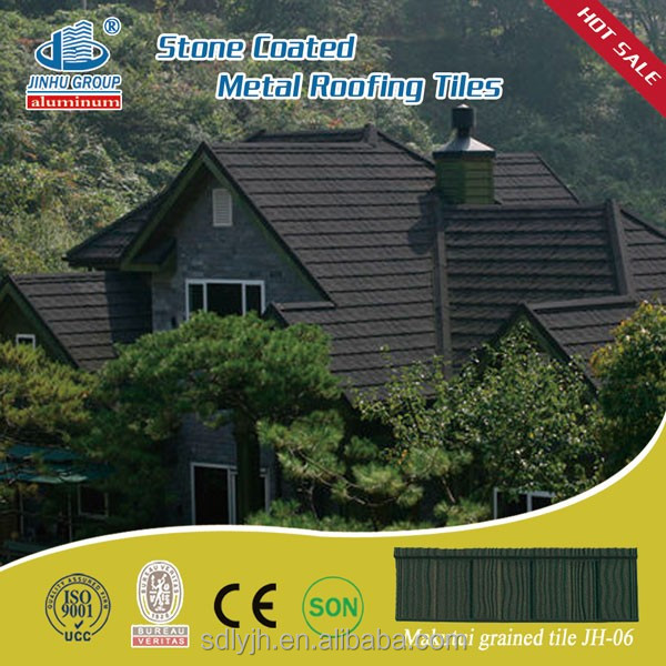 Metal roof colorful stone coated steel sheets/tile building materials hot sale Africa Market