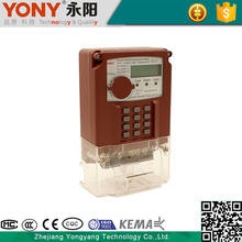 YONY China professional manufacture keypad STS single phase prepaid energy meter for measuring electricity