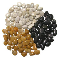 Natural river stone pebbles landscaped stone