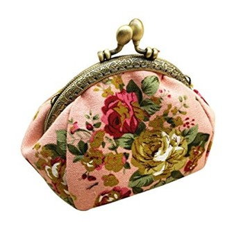 Mini Slim Brocade Handle Clutch Purse Wallet Clutch Coin Purse Bag