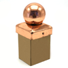 Factory Supply Garden Fence Copper Post Cap