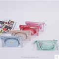 The new PVC transparent washing bag waterproof makeup bag set of three travel cosmetics bag