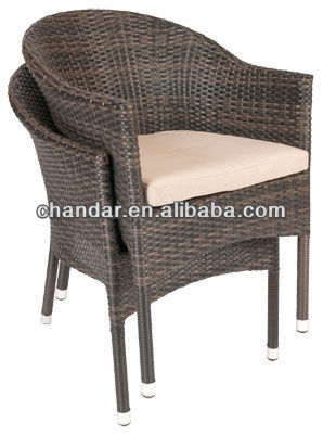 CH-S2 aluminum frame polyrattan chair wicker chair,wicker chair and table, wicker bullet chair