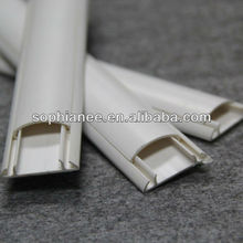 Plastic Ducts Electrical White PVC Floor Cord Covers