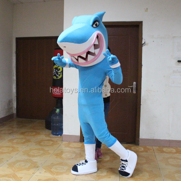 Hola blue costumized shark costume/shark mascot costume