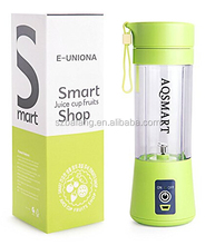 Hot!!! Hand Juicer Blender 380ml Electric Portable Mini fruit carrot juicer with USB Charger