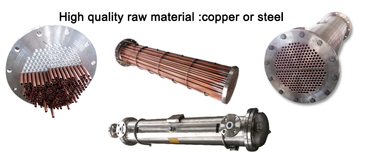 Customized Copper Shell and Tube Type Coaxial Heat Exchanger
