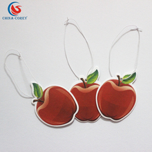 OEM fruit aroma paper car air freshener for promotional gifts with customer logo accepted