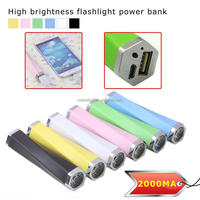 2000mah gift brightness power bank Battery charger power station for cellphone