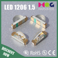 free samples 3.2x1.0x1.5mm 450mcd side view type 1206 green smd led