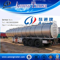 AOTONG trailer 50 tons truck aluminum fuel tanks for sale