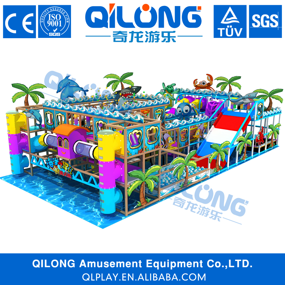 2016 new design Indoor Playground Type and Plastic Playground Material kids commercial indoor soft play playground <strong>equipment</strong>
