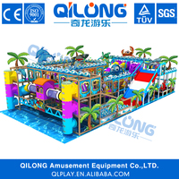 2016 new design Indoor Playground Type and Plastic Playground Material kids commercial indoor soft play playground equipment