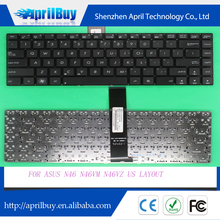 Replacement laptop keyboard for ASUS N46 N46VM N46VZ US layout keyboard
