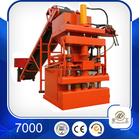 Hot ! electric wire cement clay brick making machine drawing HF1-10 hydraulic interlock hydraform block