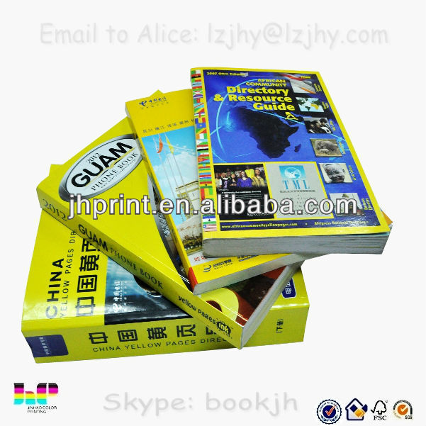 2014 new yellow pages full color print in Shenzhen