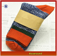 2015 Custom 100% Cotton Multicolor Thick Winter Striped Socks For Men/Men Dress Socks/Socks Machine Price---AMY150293