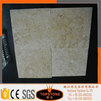 Beige travertine and dark emperador marble floor big medallion in marble