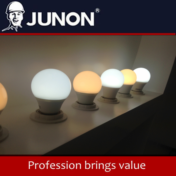 JUNON High Quality 2017 Newest Plastic LED Light Bulb