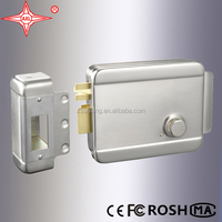 AX008 Electronic Rim Lock, Double Brass Cylinder, SN Finish for Left Side