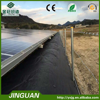 PP Black Plastic Weed Prevent Fabric for Weed Control for solar panel