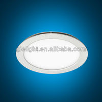 UL external driver most powerful 10w 12w 18w round flat led panel ceiling light