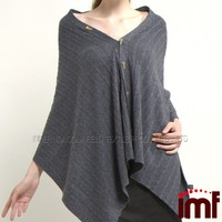 Hand Knitted Poncho Women Pure Mongolia Cashmere Poncho