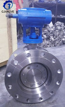 Manual Ductile Iron Double Flange Rubber Lined Butterfly Valve