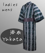 original kimono robe men Yukata with Obi Belt different sizes stock available