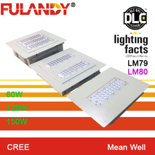 dlc/cul shoebox retrofit/gas station led canopy light/petrol station led lighting led retrofit kit