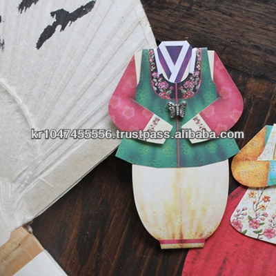 Handmade Korean Traditional Hanbok Greeting Card