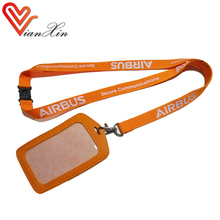 custom printed high quality designer id card and ribbon lanyard neck rope strap
