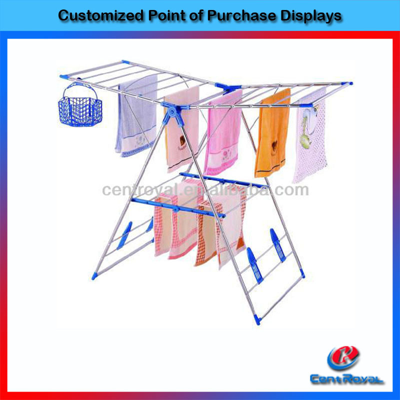 Hot sale fashion folding metal display stand for towel