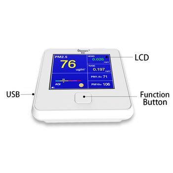 Indoor Air Quality Detector Accurate Testing Formaldehyde(HCHO) Monitor with PM2.5/TVOC Test