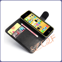 High quality leather material wallet phone case for iphone 5c