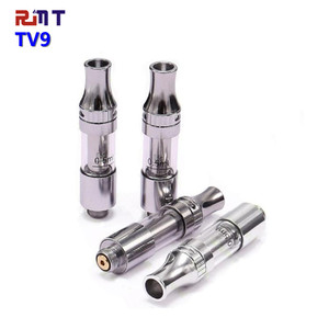Wholesale CBD vape pen cartridge v9 510 CBD oil tank 0.5ml 1ml capacity CBD ceramic coil Atomizer with closed system