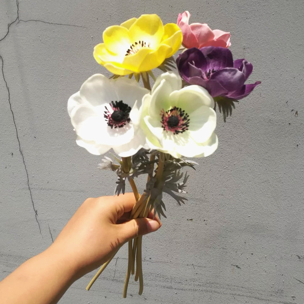 Best selling flowers artificial wedding factory direct artificial flowers for wedding decoration PU Anemone