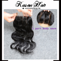 Hot New Products For 2015 Virgin Brazilian Hair Top Closure Piece Bleached Knots 4*4