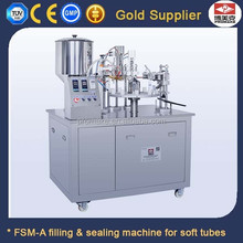 semi auto plastic tube filling and sealing machine