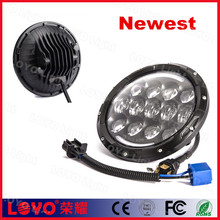 newest design with rebreather 105w headlamp 7 inch led headlight for Harley
