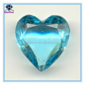 faceted Heart-shaped sky blue cz gemstone
