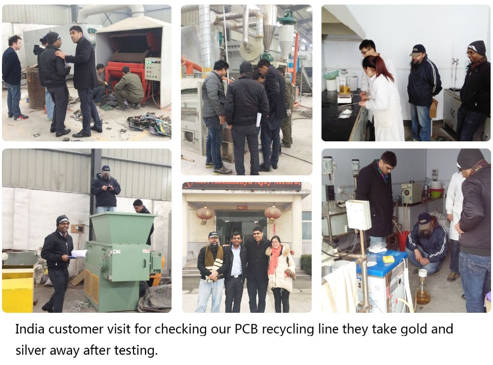 99% Separate rate waste pcb recycling machine