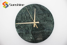 India Green Marble Modern Decorative Wall Clock